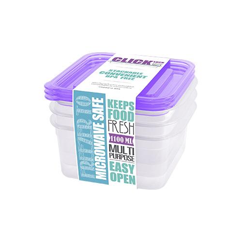Bộ hộp đựng thực phẩm hình vuông 1100ml JCJ-31323