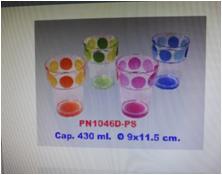 Ca uống nước nhựa trong 430ml (9x11.5cm) mã số:PN1046D-PS