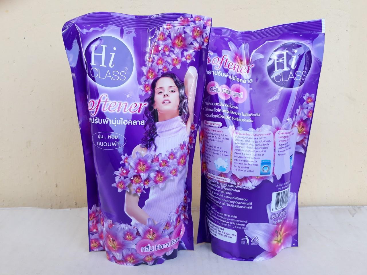 Nước xã mềm vải Hiclass 500ml hương hoa ly (Hana bouquet - tím)