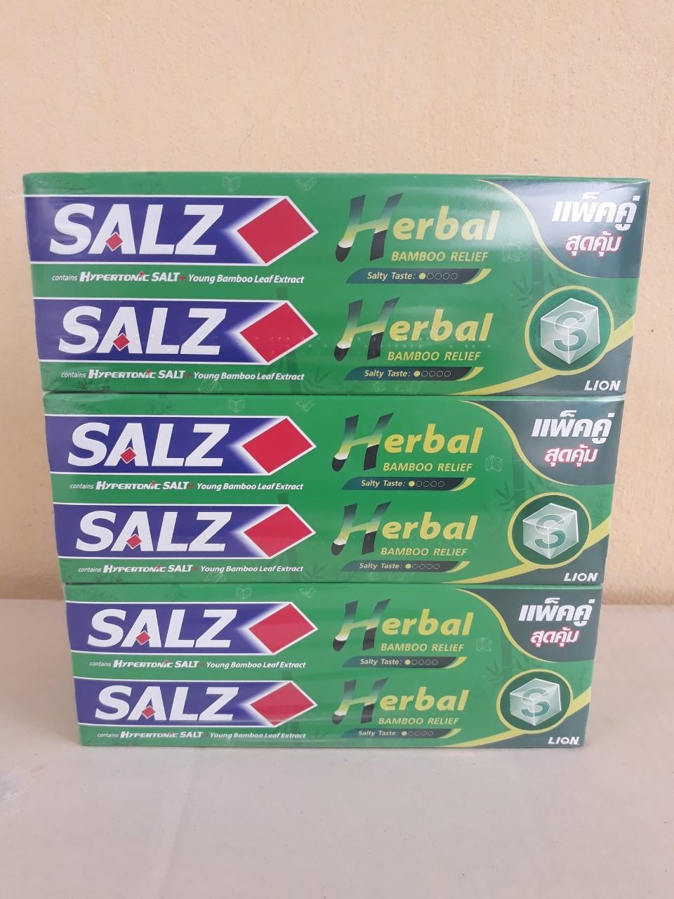 Kem đánh răng Salz 2 x 160g (Thảo dược)