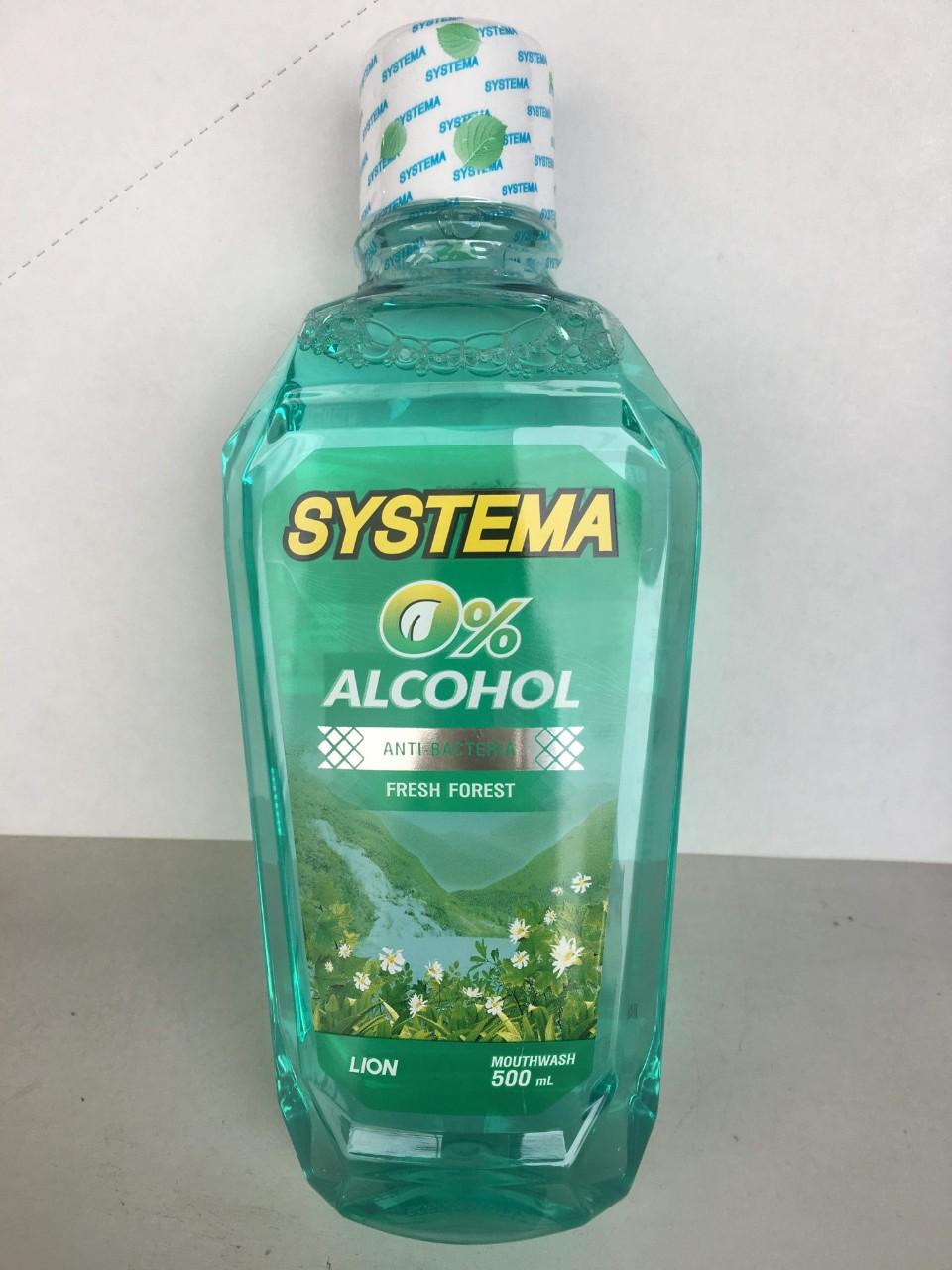 Nước súc miệng SYSTEMA 500ml (Fresh forest - xanh lá cây)