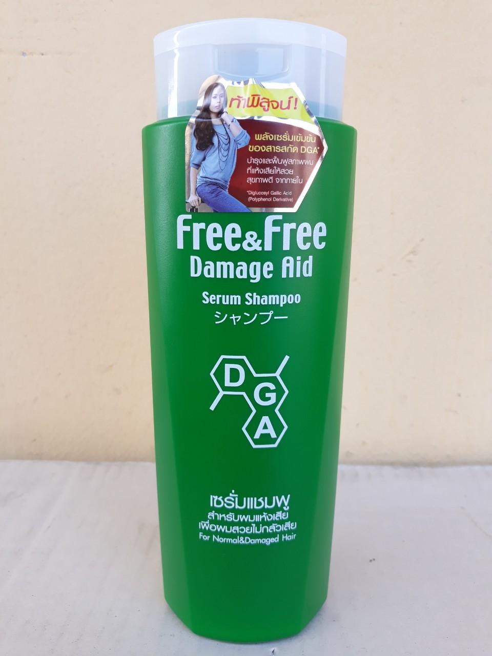 Dầu gội đầu FREE & FREE 350ml tóc thường (For Normal & Damage Hair - xanh)