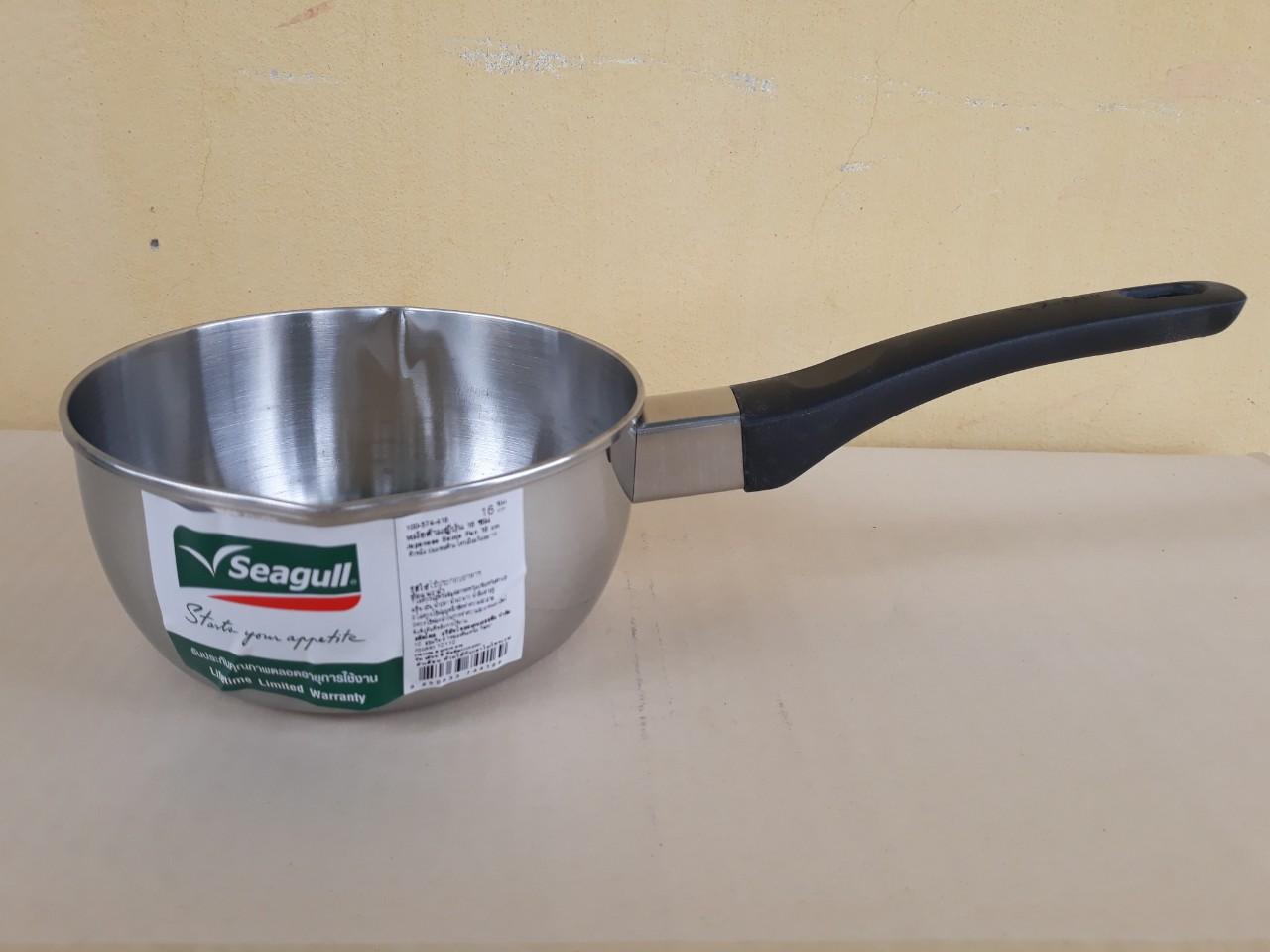 Nồi nấu có tay cầm không nắp seagull 16cm - 1.2 lít (Japanese) - dùng được cho bếp từ 100374416