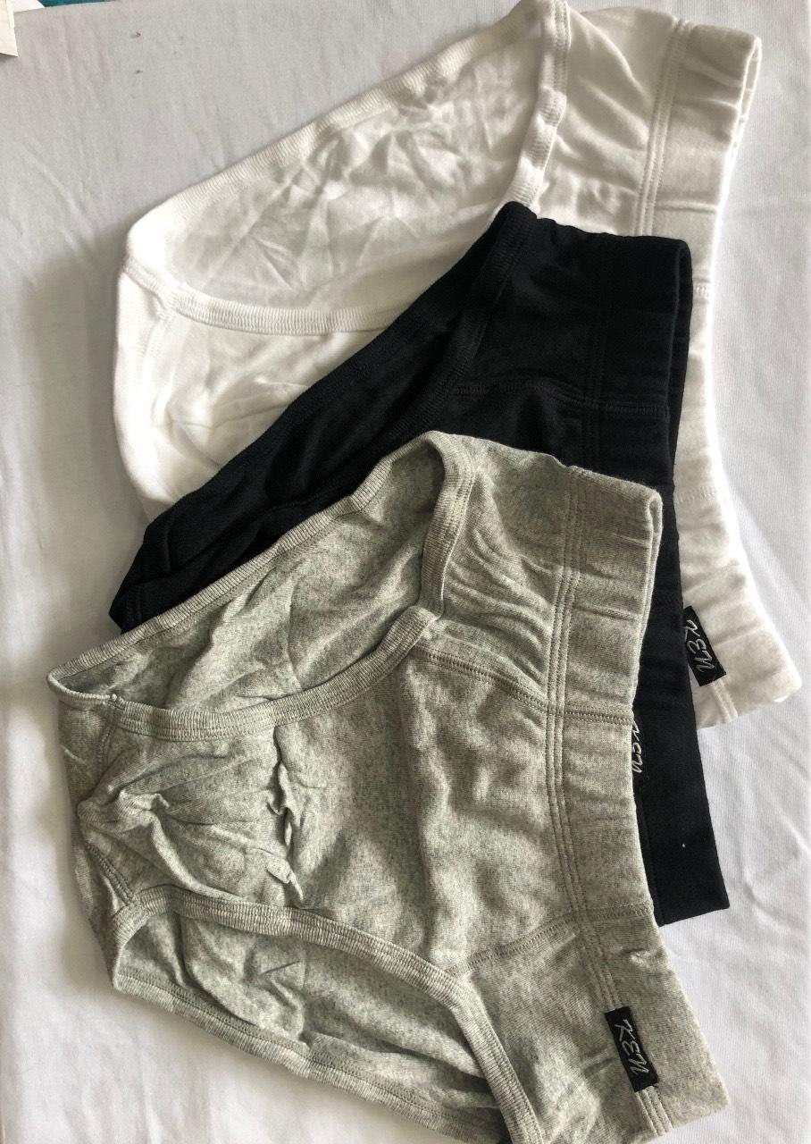 Quần lót nam loại KU 320 F3 (100% thành phần dệt từ cotton), 3 cái/gói, Mã số: KU 320