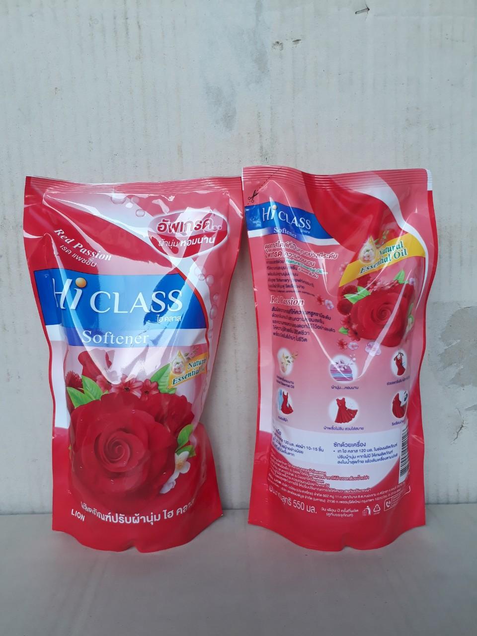 Nước xã Hiclass tinh dầu tự nhiên 550ml (Red Passion - đỏ)